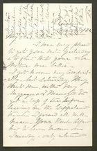 Letter from Liney Howitt to Edith Thompson, September 6, 1884