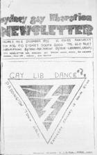 Sydney Gay Liberation Newsletter  - Vol 1, no. 6, December 1972