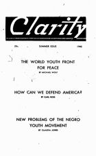 Clarity, Vol. 1 no. 2, Summer Issue, 1940