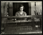 Blind young woman working at a loom at the New York Association for the Blind, 111 East 59th Street, New York, 1934 (silver gelatin print)