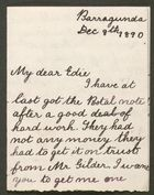 Letter from Ethel Anderson to Edith Thompson, December 8, 1890