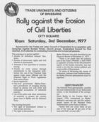 Rally Against the Erosion of Civil Liberties