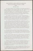 Report of Open Meeting in the House of Commons, London, April 25th, 1967