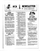 ACA Newsletter, Vol. 2 no. 5, September 21, 1964