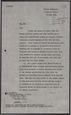 Letter from J. R. Vaughan Russell to Foreign Office re: Surprise Military Operations, July 27, 1926