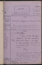 Colonial Office Correspondence Register, re: Letter from Foreign Office on Detention of Mr. Yates in Honduras in 1906, with Related Minutes, June 1908