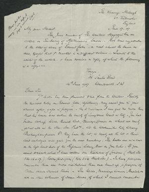 Letter from Samuel Winter Cook to My dear Herbert, June 17, 1907