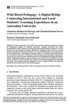 Wiki-Based Pedagogy: A Digital Bridge Connecting International and Local Students' Learning Experiences in an Australian University