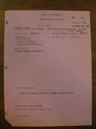 Yale University Memorandum of Gift, August 26, 1961