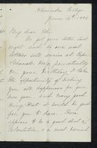 Letter from Charlotte Hearn to Edith Thompson, June 14, 1884