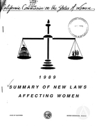 1989 Summary of New Laws Affecting Women