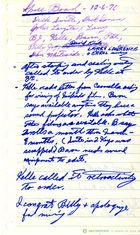 Handwritten Minutes of SPREE Board Meeting, December 6, 1976