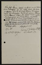 Draft of Letter from Markus Brann to Conrad Walter, February 13, 1920