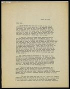 Letter from Ruth Benedict to Sol Tax, April 27, 1932