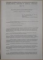 Congrès International de Sexologie Médicale - International Congress of Medical Sexology (Hormonal Therapy of Sex Offenders - Traitement Hormonal Des Délinquants Sexuels) - Paris 1974