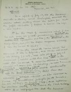 Handwritten Intelligence Report re: Count Lerchenfeld's 1914 Report on Relations Between Berlin & Austria-Hungary, November, 1918