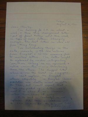 Robert Frager to Stanley Milgram, August 4, 1966