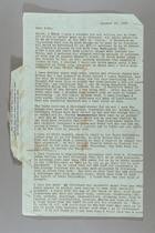 Letter from Clara Davies Brown to Ruth Lois Hill, January 22, 1959