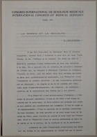 Congrès International de Sexologie Médicale- International Congress of Medical Sexology (La Shari'a Et La Sexualité - A. Bouhdiba) - Paris 1974