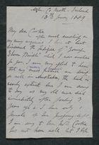Letter from J. S. Winter to Samuel Winter Cooke, June 18, 1889