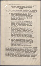 Brief for the Minister of Food on Various Cables, Undated