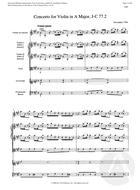Concerto for Violin in A Major, J-C 77. 2, A Major