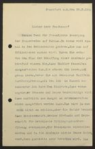 Letter from Aron Freimann to Markus Brann, February 25, 1919