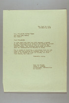 Letter from Mary van Kleeck and Susan B. Anthony (II) to Elizabeth Gurley Flynn, November 9, 1945