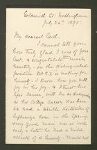 Letter from Annie Howitt to Edith Thompson, July 26, 1895