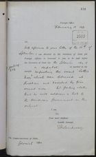 Memo from T. H. Sanderson to Under Secretary of State, Colonial Office, re: Despatches on Detained Vessel