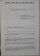 Congrès International de Sexologie Médicale - International Congress of Medical Sexology (Frigidity - The Gynecologist's Point of View - Frigidité - Le Point De Vue Du Gynécologue) - Paris 1974
