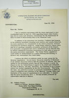 Letter from George H. Winters to William Belton re: Senate Joint Resolution 164 to Create Advisory Commission for State Dept. Assistance in Determining Title to Chamizal Zone, June 18, 1954