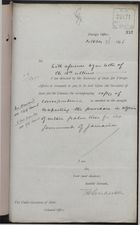 Memo from T. H. Sanderson to Under Secretary of State, Colonial Office, re: Purchase of Certain Palm Trees in Algeria for Gov't of Jamaica, October 26, 1896