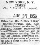 Rites for Dr. Kinsey Today