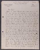 Letter from David Simonsen to Markus Brann, October 4, 1913
