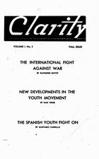 Clarity, Vol. 1 no. 3, Fall Issue, 1940