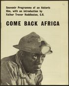 Come Back Africa: A Souvenir Programme Of An Historic Film (Pg.Int.Ab.12)