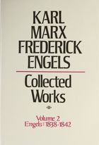 Karl Marx, Frederick Engels: Collected Works, vol. 2, Frederick Engels: 1838-1842