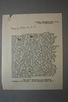 Letter from Doris Stevens to Alice Paul, September 13, 1928