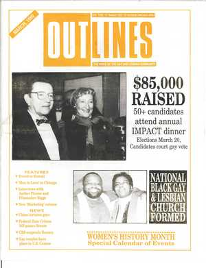 Outlines, The Voice of the Gay and Lesbian Community, Vol. 3 No. 10, March 1990