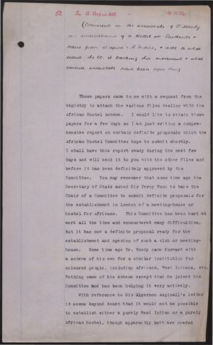 Collection of Documents re: African Club and Other Issues, 1932