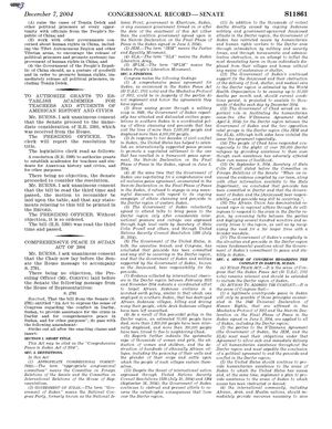 Congressional Record - Introduction Of The Comprehensive Peace In Sudan Act Of 2004, December 7, 2004