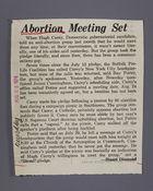 Abortion Meeting Set