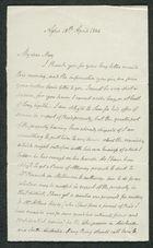 Letter from John Pratt Winter to My dear Mary, April 18, 1846