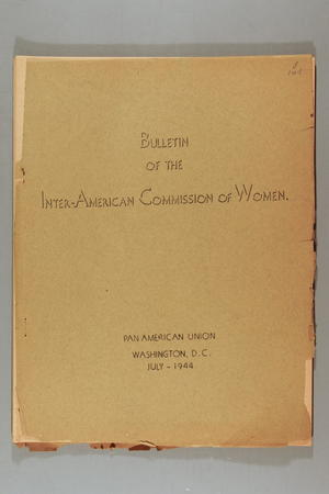 Bulletin of the Inter-American Commission on the Status of Women: General Assembly, 14-20 April, 1944