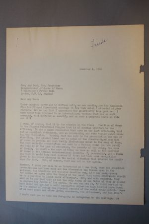 Letter from Frieda Miller to Amy Bush, December 1, 1966, (first line: Under separate cover...)