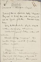 Abatakali - Brief Notes, 1936-1938