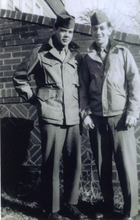 Broadway Bound Dressing: Photograph of Two Uniformed Men
