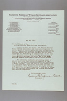 Letter from Carrie Chapman Catt to Officers of NAWSA, May 24, 1937