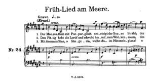 Früh-Lied am Meere